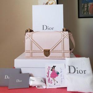 DIORAMA pink Lambskin gold hardware small bag